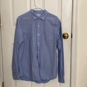 Men's blue button down- Medium